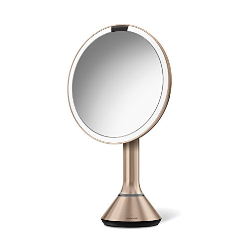 simplehuman 8'' Sensor Mirror with Brightness Control, Rose Gold, Rose Gold SS by simplehuman