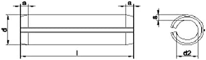 tama/ño del paquete: 30 de acero inoxidable Pin recto de resorte M4 x 24 mm T304 A2