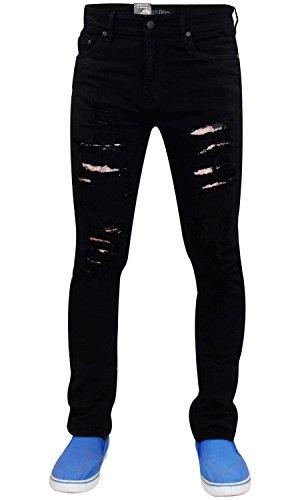 Modello Jeans Cotone Uomo 72 Taglia Strappato Black Skinny In G Da S Elasticizzato SgrSIx1