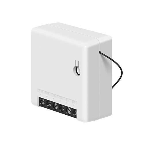WISREMT Mini WiFi Smart Switch DIY Smart Home für elektrische Haushaltsgeräte,Zwei-Wege-Externer Schalter Arbeit mit Alexa (1 Stück)
