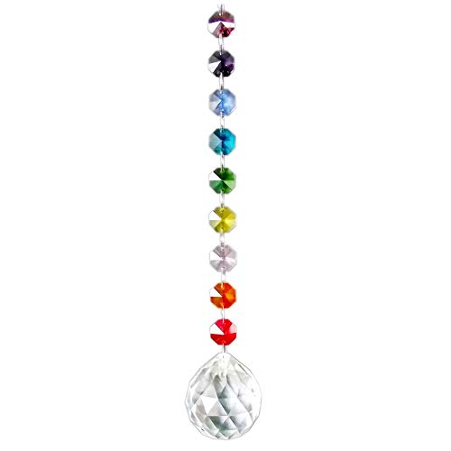 AirSun Crystal Suncatcher 40mm Pendant Sphere, Chakra Prism Ball Feng Shui Decoration, Rainbow Maker & Window Chandelier Hanging Ornament