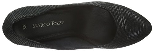 Marco Tozzi 22429, Zapatos de Tacón para Mujer Negro (BLACK 001)