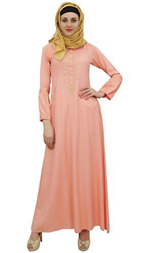Aari Jilbab Hijab 48 Abaya Muslim Arbeit Kleid Mädchen Frauen islamischem Peach mit Bimba xBqYpZn
