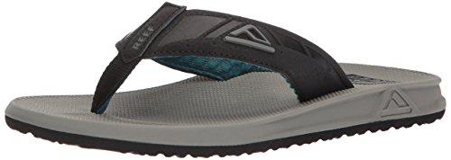 Reef Men's Phantoms Sandal, Grey/Black/Green, 8 M US -