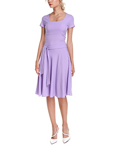 - Aerin Womens Silk-Blend Dress, S Lavender