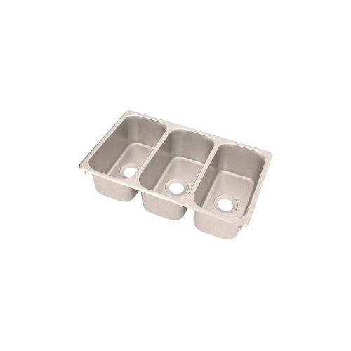 Vollrath 12065-3 S/S Sink Triple Bowl Vending Cart Sink