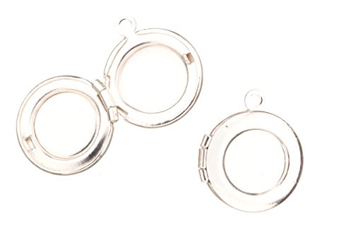 Plain Round Locket Pendant Silver Plated Fits Three 8mm Photos 15.5x13.5mm Sold Per Pack For 4 (Locket Three Photo)