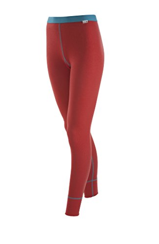 Janus 100% Merino Wool Women's Leggings Machine Washable Made in Norway (X-Small, Coral)