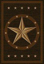 Amazoncom Western Star Rug Dark Brown 5X8 KitchenDining