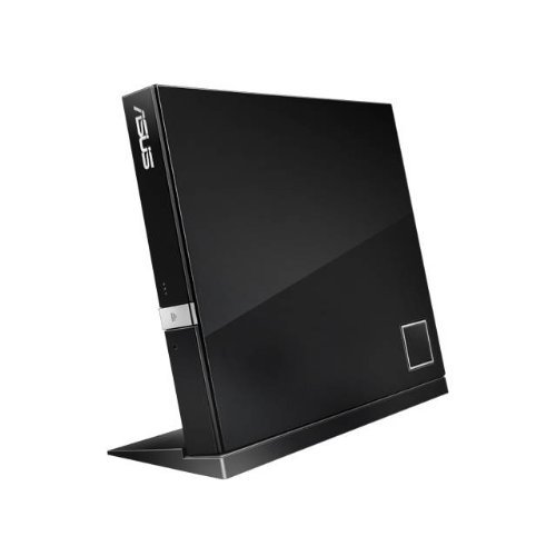 Asus SBC-06D2X-U 6X USB Blu-ray Combo Slim External Drive (Black), Retail by Asus