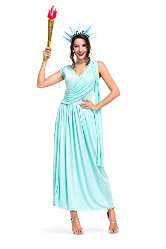 Women's Statue of Liberty Halloween Cosplay Fancy Dress Costume ()