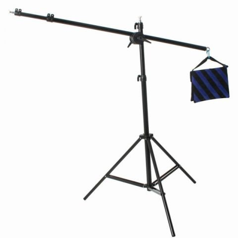 ePhoto 500 LED Photo Video Hair lite Panel Boom Stand Lighting Kit by ePhotoInc ULS500ABoom