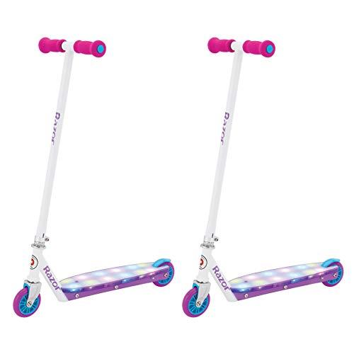 - Razor Party Pop Girls Kids Folding Aluminum Push Kick Scooter, Pink (2 Pack)
