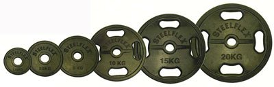 STEELFLEX 20kgラバーバーベルプレート 50mm孔径 B003BDVMGY