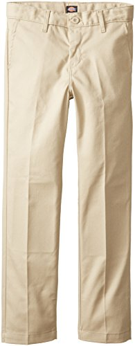 Dickies Khaki Big Boys' Flex Waist Slim Stretch Pant, Desert Sand, 16