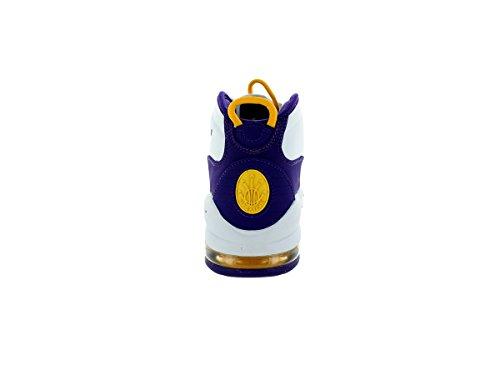 Scarpa Da Basket Nike Mens Air Max Uptempo Bianca / Corte Viola-bianco-bianca