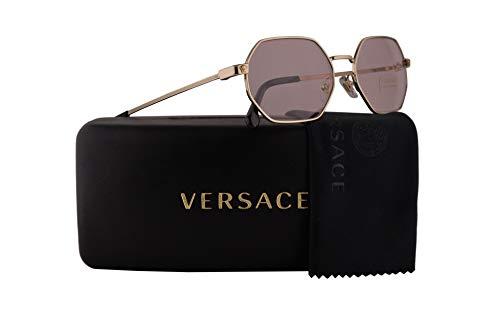 Versace Pink Lens - Versace VE2194 Sunglasses Pale Gold w/Pink Lens 53mm 12525 VE 2194