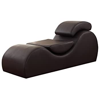 us pride furniture faux leather deluxe stretch chaise relaxation and yoga chair with removable pillows