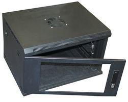 23-39//64 Width x 19-23//32 Height x 23-39//64 Depth Smooth Black Powder Coating Finish BUD Industries VC-9931 Steel U 9 VisionCab Electronics Cabinet