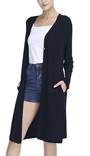 Urban CoCo Women's Casual Split Button Open Front - Womens Coco Sweater