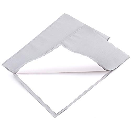 Foraineam 2 Pack Jewelry Polishing Cleaning Cloth for Cleaning Silver Gold and Platinum Jewelry Coins Gemstones Watches and Silverware ()