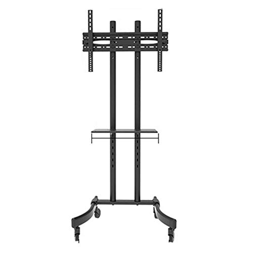 Bookcases NAN Liang Mobile TV Stand/Rolling Monitor Tall Trolley with Adjustable Shelf and Flat Screen Mount – Fits 32″ to 65″ Monitors – Black Shelf (Size : Double Layer) (Tv Bookcase Lcd)