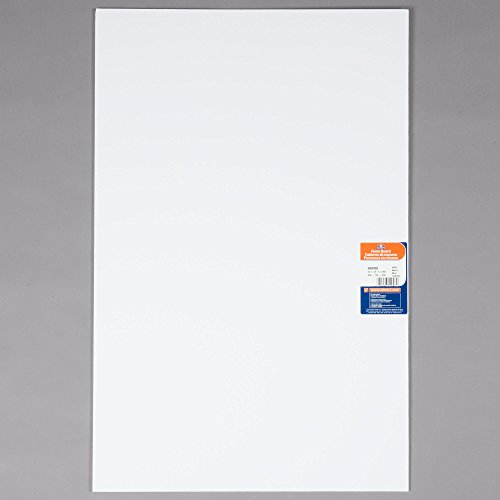 TableTop King 950109 20'' x 30'' White Polystyrene Foam Board - 25/Case by TableTop King