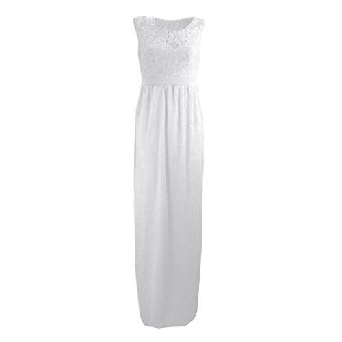 Ropa Vestidos vestido maternidad vestido Accesorios de embarazadas maxi Cinnamou Fotografia largo Para Blanco Las encaje mujeres Mujers ZgqYdwFv