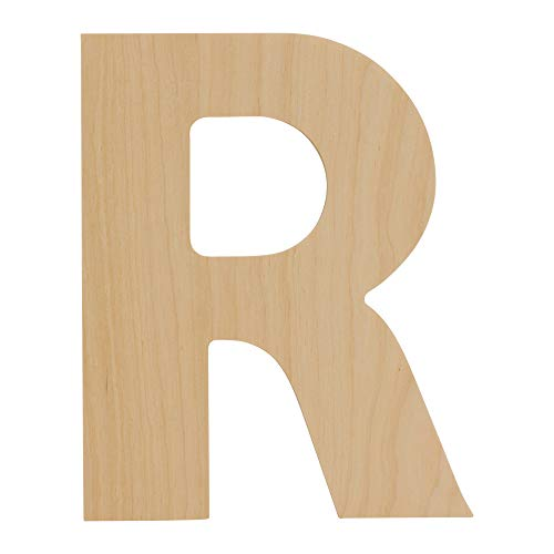 Wooden Letters - R - Unfinished 8