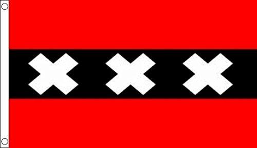 Flagtex Amsterdam Flag Amsterdam Flag 5ft x 3ft LEPSDNSNCS6860