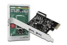 Digitus DS-30220-2 USB 3.0, 2-port, 5Gbps High speed PCI-Express Add-on card, 2 Ports A/f; 1x Lp Bracket, NEC D720200 Chipset by Digitus