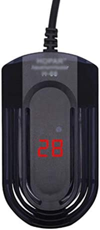 KKYG ミニ 水槽 ヒーター、Homeself ウォーターヒーター 水族館 防水給湯器 水中用 魚タンク サーモスタット 小型 加熱棒、温度調節可能 インテリジェント LED ディスプレイ 保護性能 熱帯魚・観賞魚対応 オート 安全カバー付 水温管理用 自動温度制御 維持 電子サーモスタット付き