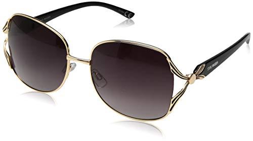 (Steve Madden Women's Sm495123 Round Sunglasses, Gold, 59 mm)