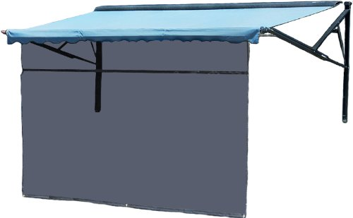 13' x 8' Charcoal Vista Shade w/Zipper (Out Patio Crank Awning)