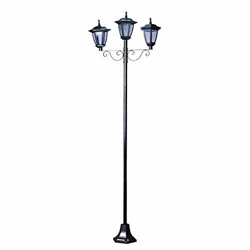 Outdoor Triple Lamp Post in US - 9