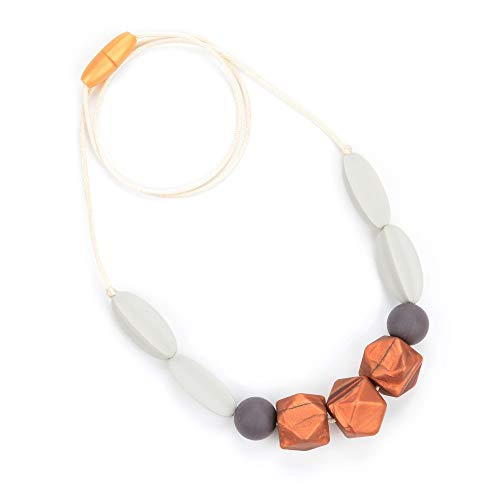Bebe by Me 'Windsor' Silicone Teething Necklace for Nursing ()