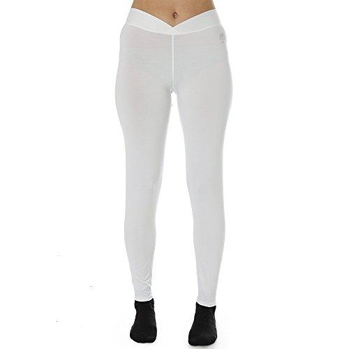 (Snow Angel Women's Cybersilk Signature V-Waist Leggings, White, Large)