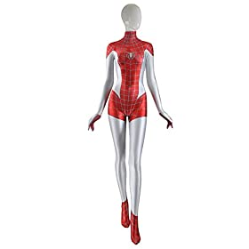 - 312Ep8Nbz2L - Mary Jane Spider Costume Girl Spider zentai costume Mj Woman Superhero Cosplay Costume