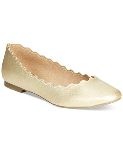 Athena Alexander Taffy Womens Synthetic Ballet Flats Gold 7 M