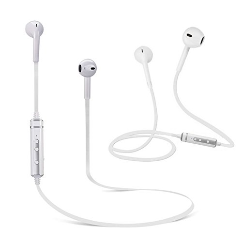 2-Pack Bluetooth Earbuds Headphones with Mic From BT Waves - Best Noise Cancelling Apple Style in Ear Wireless Stereo Headset Enjoy Clear Sound on the Move by BT Waves