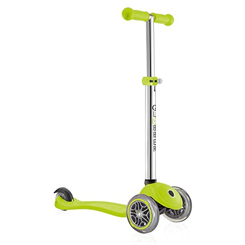 Globber Primo 3 Wheel Adjustable Height Scooter (Green) by Globber (Image #2)
