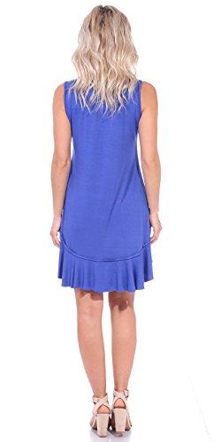 Length Popana in Casual Women's Tank Made Dresses Summer Midi Sundress USA Royal Knee Beach agaP0Zr