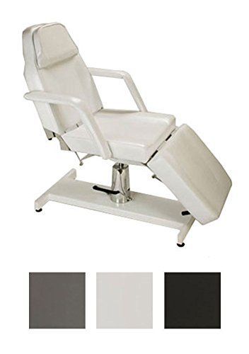 CLP hydraulische Kosmetikliege, stufenlos verstellbar, inkl. Armlehnen, bis zu 3 Farben wählbar, auch als Massageliege nutzbar weiß