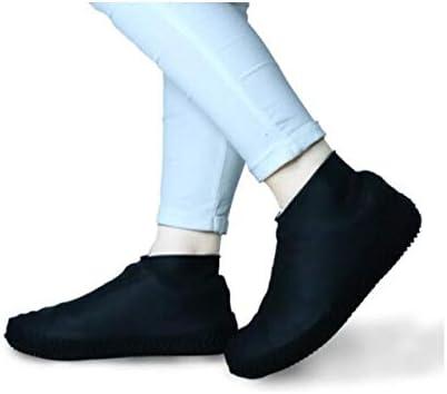 XHYRB 防水靴カバー、太い耐摩耗ボトム、男の子と女の子のためのゴムラテックスブーツ、黒のMコード 防水靴、防雨カバー、長靴 (Color : Black, Size : L)