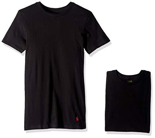 Polo Ralph Lauren Slim Fit Cotton T-Shirt 3-Pack, S, Black