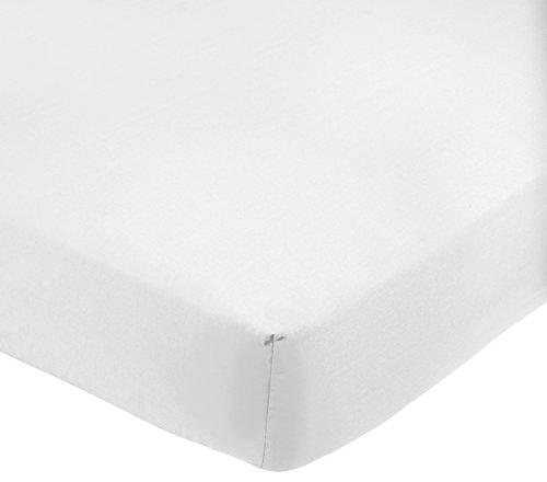 AmazonBasics Drap-housse en polycoton 200fils Blanc 90 x 200 x 30 cm