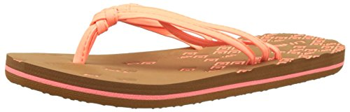 ONeill Fw 3 Strap Ditsy Flip Flop - Chanclas Mujer Pink (Fluoro Peach)