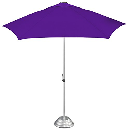 """StrombergBrand """"the Café Market"""" Vented Patio Umbrella, Commercial Quality, Patented Construction, Purple"""