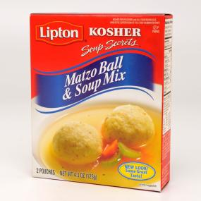 Lipton Soup Secrets Kosher Matzo Ball and Soup Mix, 4.3-Ounce Packages, 2 Pouches per Box