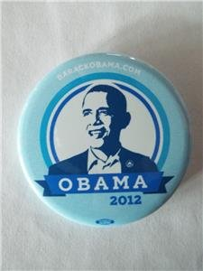 RARE OFFICIAL BARACK OBAMA 2012 Pinback Button 2.25 -